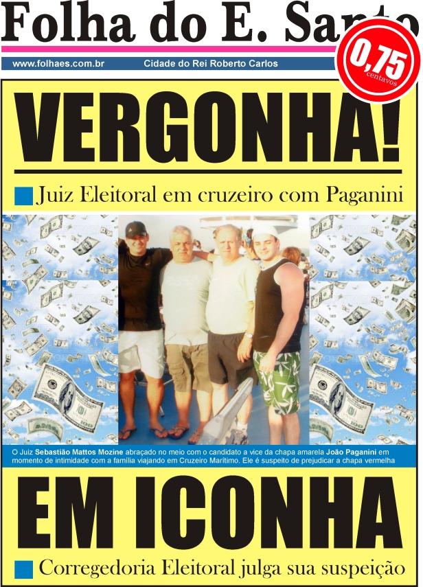 A POSTURA DO JUIZ ELEITORAL DURANTE O PLEITO DE 2008 FOI VERGONHOSA EM ICONHA E CORRIGIDA PELO TRE-ES