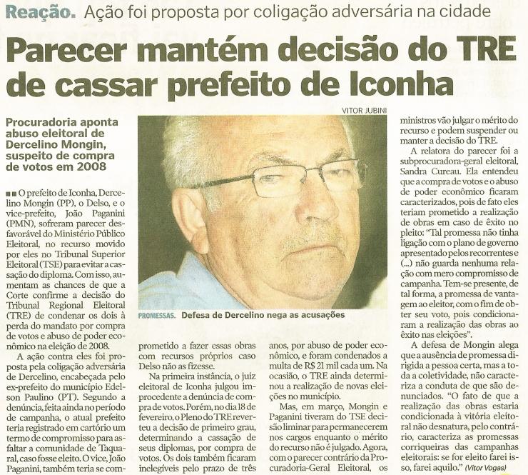 A vergonha da compra de votos em Iconha está perdendo para a verdade