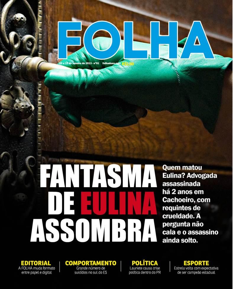 Circula na segunda-feira (14) novo modelo da Folha do ES impresso