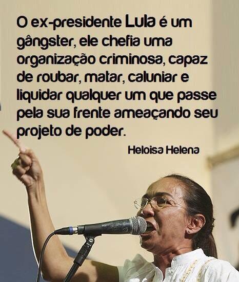 Heloisa Helena se diferencia da classe política com verdade
