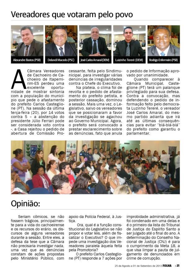 Vereadores recusam clamor popular para investigar prefeito do PT